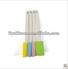 2012 Newest design mini food Silicone scraper/Silicone spatula/Silicone spade With PS handle