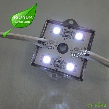 Super bright waterproof 12V smd5050 4LED led module light CE RoHS passed for signage backlighting