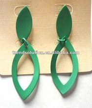 Latest style alloy 2012 dangle style earrings