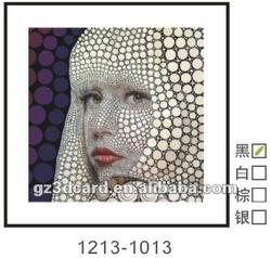 3d picture 3d lenticular poster 3d Lady Gaga modern art