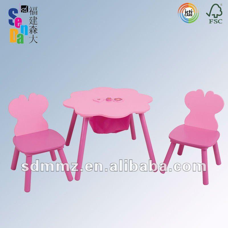 Surtida de madera para ni os de mesa y sillas de - Mesa y sillas para ninos de madera ...