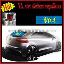 90*25cm Popular sound absorbing light el equalizer car sticker