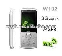 Cheaper 2.2 inch screen 3G (WCDMA+GSM) WIFI GPS mobile phone W102