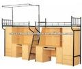 Superposés lit avec bureau et une armoire