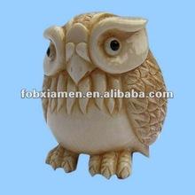 2012 Handmade Vivid Owl Shaped Perfect Home Netsuke