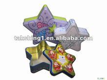 five-star shape tin can