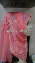 HL018 latest gorgeous handmade muslim scarf