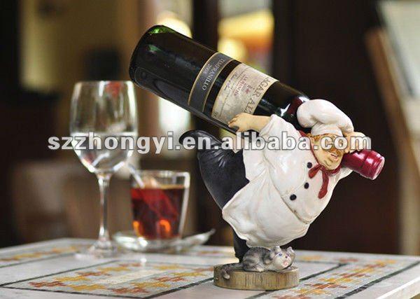 anao de jardim resumo: para garrafas de vinho / decorativa suportes para garrafas de vinho