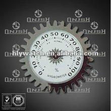 (Wheel Gear Shape Silver Color Moisture Testing Artware Watch Head Size 50mm) 2174A