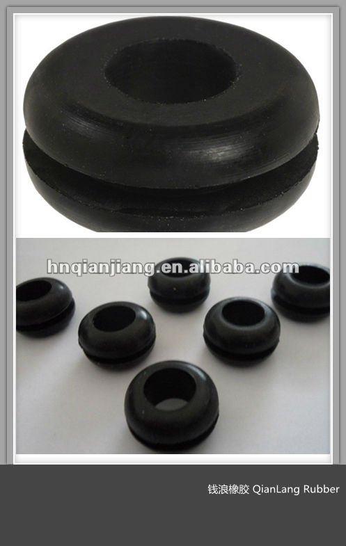 Custom make Round Black Food Grade EMPD/Silicone Rubber Grooved Gasket