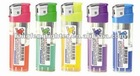 baida cheap disposable electric lighter with color gas,in store