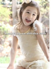 2012 new design lovely korea style printing children's T-shirt girls sleeveless t-shirt
