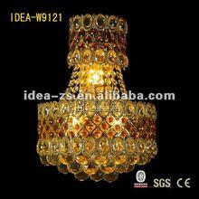 led gold creative crystal wall lamp, IDEA lighting