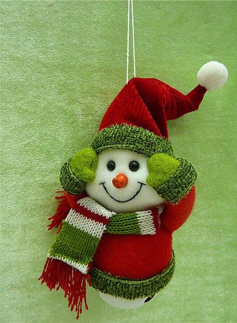 Navidad adornos, Caliente venta, Feliz navidad, Muñeco de nieve, Papá noel