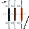 venda quente simples de madeira puxadores de para porta de vidro em colorido com bom preço