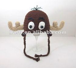 knit cute giraffe animal hat