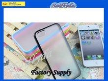 TPU Bumper+Matte Transparent PC hard Cover/Case for iPhone 5