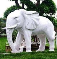 White Marble Garden Decoration Stone Elephant Statue