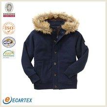 Faux-fur fleece jacket boy