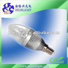 e14 led amusement Taiwan chip e14 led candle bulbs 3w 5w 300LM with Ce&Rosh