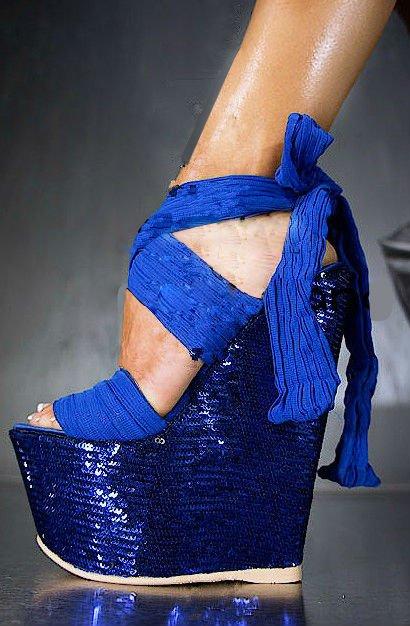 sexy sequin heel wedge sandals 2012