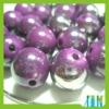 wholesale plastic bead/round plastic bead/purple small hole plastic bead