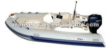 4.2m RIB rigid inflatable boat fiberglass boat