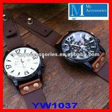 genuine leather custom watches