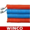 Pneumatic Polyurethane Coil Hose With Fittings
