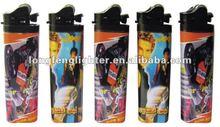 cheap bulk flint lighter with butane gas,black head,77mm,80mm