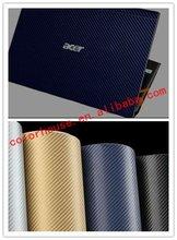 Hot seller blue 3D carbon fiber vinyl laptop skin stickers