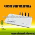 Goip 4 gsm gateway/gateway voip gsm sim box chiamata terminale centro