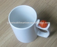 printable 11oz coated ceramic mug with ball
