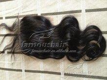 "hot-selling natural color 16"" Mongolian virgin hair lace closure"