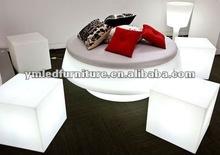 led glow bar cube stool for wedding/christmas/garden
