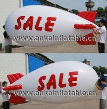 Flying inflatable helium blimp/helium airplane