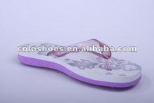 beautifui silander thin flip flops 2012 for girls