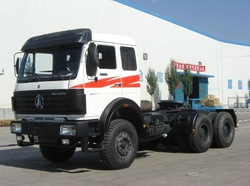 Benz technology 380hp BEIBEN 2538 tractor truck