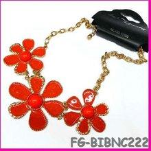 2013 collar chunky enamel pendant necklace flower milagros