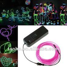 3M PURPLE Flexible Neon Light Glow EL Wire Rope Tube Car Dance Party +Controller