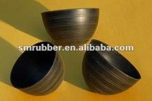 Compression mold silicone rubber stop valve