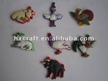2012 newest custom soft PVC chick charms with cartoon design