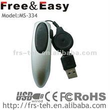 usb interface line retractable mini mouse pen mouse