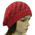 Chapeaux de béret de coupe de mode pour les chapeaux argentés rouges de scintillement de filles