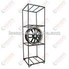 Black Powder Coating Steel Display Rack for wheel rims