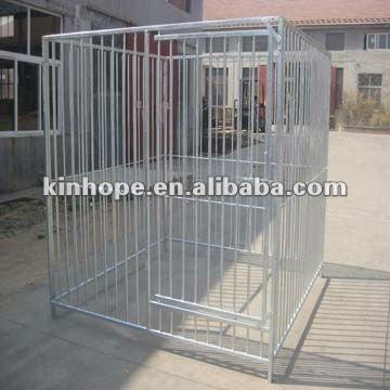 galvanized fence dog kennels
