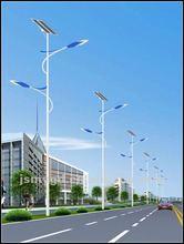 Doubel arm decorative street lighting pole