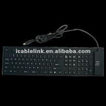 Silicon Soft and Foldable USB Keyboard 109 Keys (UK)