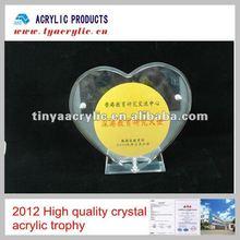 2012 High Quality Crystal Acrylic Trophy