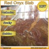 2cm thickness Red honey onyx marble slab